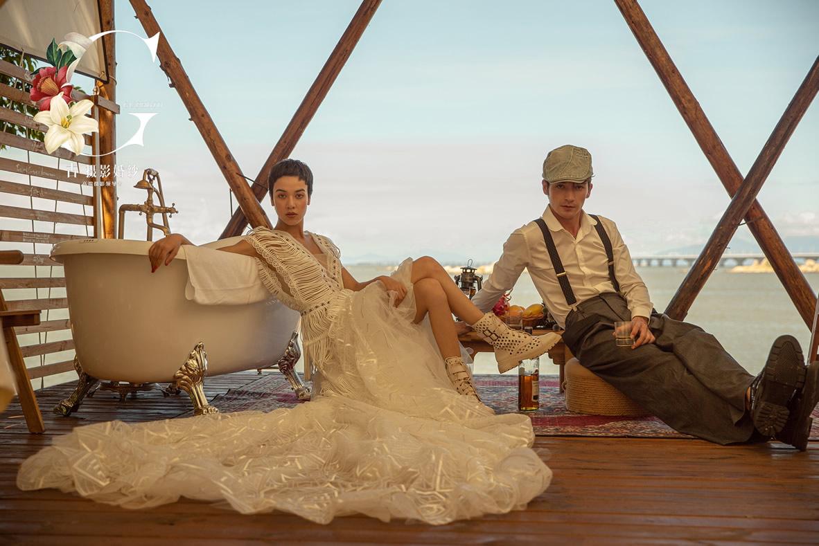 九洲岛《轻纱系列》 - 拍摄地 - 广州婚纱摄影-广州古摄影官网